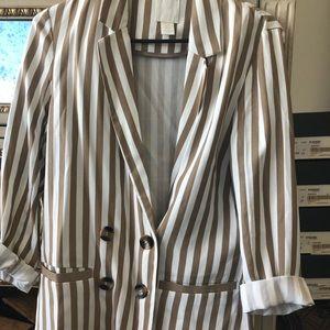 H&M striped blazer size xs